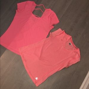 Tops - (2) Coral/Neon Pink/Orange Work Out Tops